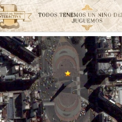 To celebrate child day in Argentina, the ad agency Icolic, created a treasure hunt that uses google's satelite pictures!