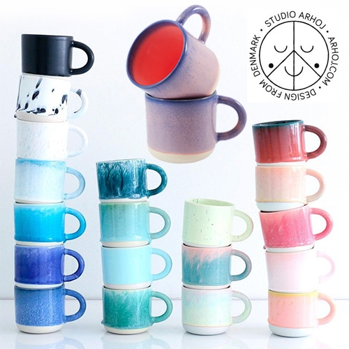 Studio Arhoj Chug Mugs - currently obsessed with these stunning 12.5 fl oz mugs after searching for the perfect ceramic mugs and finally feeling these in person (better than you can imagine!) - each one is truly unique due to the glazing too!