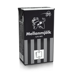 At 8:30 PM, Saturday 28 March 2009 is Earth Hour. Switching off your lights is a vote for Earth, or leaving them on is a vote for global warming.  As part of increasing the awareness in Sweden dairy producer Arla is releasing a special edition milk carton.