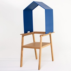 Armchair that becomes a personal space by adding a roof, by Dutch designer Bram Burger.