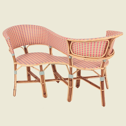 Drucker Confident Armchair - classic colorful rattan in such a unique shape.