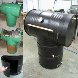 Home made 55 gallon drum smoker! Amazing making of pics...