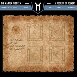 The Master Theorem ~ lead by M, the real world Columbia secret society has gone online and opened up weekly puzzle challenges for the masses... if you can get in. Crypto-lovers will be sucked in instantly!
