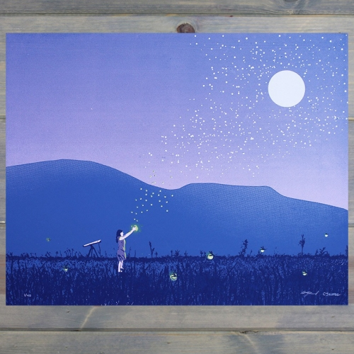 "Arsenal Handicraft - ""Fireflies"" art print. 16"" x 20"" four color hand pulled screen print."