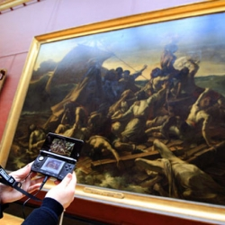 Visit The Louvre and you can use a Nintendo 3DS to access an exclusive audio-visual tour. In lively and informal on-the-spot interviews, the museum's curators and lecturers share their expert knowledge of the Louvre and its artworks.
