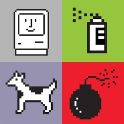 Susan Kare's classic Macintosh icons as prints.