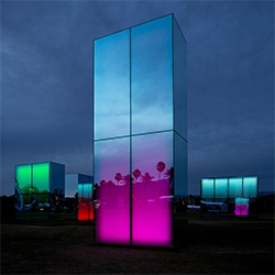 Reflection Field at Coachella by artist Phillip K. Smith.