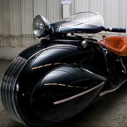 Custom 1930 Art Deco Henderson motorcycle.