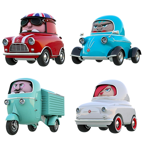 Rollis Toy Cars - adorable design with their drivers packed right in.