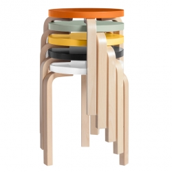 Stool 60, a classic by Alvar Aalto was released  80 years ago Artek. Now there is an anniversary edition and they look adorable.