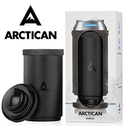 Arctican that keeps your cans cold with a cooling core for up to 3 hrs - from the folks behind Corkcicle.