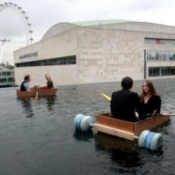 Psycho Buildings is an awesome exhibition at the Hayward gallery on the south bank. There is, among other things, a boating lake on the roof!
