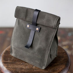 Great waxed canvas lunch tote from Artifact Bag Co.