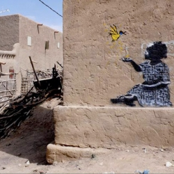 New Work from elusive street artist Banksy pops up in Africa...