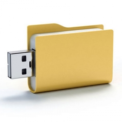 Art. Lebedev Studios announces their latest concept - the Folderix flash drive. Finally a flash drive i'd buy!