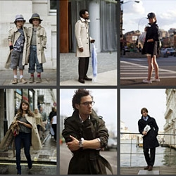 Burberry just launched a microsite called Art of the Trench, which rounds up as many street style trench coat pics as they can find, including some crowd-sourced snaps and some from The Sartorialist, Scott Schuman.