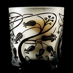 DL&Co's Art Noveau line of fragrant candles - beautifully etched glass...