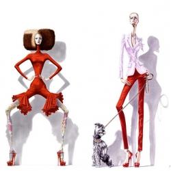 Internationally recognized self-taught artist Arturo Elena and his unique fashion illustration style revolutionized the world of graphic illustration.