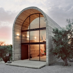 A studio/gallery space by A31 Architecture in Boeotia, Greece.