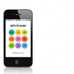 The ArtWhatsOn iphone app.  Although only for Australia right now, this great directory app for art galleries and shows is a nice, simple app by The Nest. If you're in Oz you should check it out.