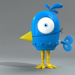 "Tweetbot: New toy concept by Sketchguy, of ""Sketchbots Blind Box Mini Series"" fame."