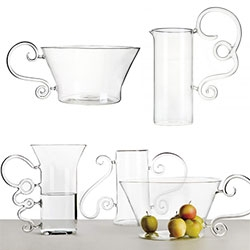 "Secondome Futiles Collection of glassware by Sam Baron. ""The Futiles collection has a baroque taste with a frivolous essence."""