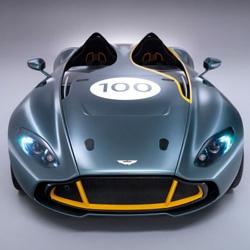 Aston Martin unveils the new CC100 Speedster concept car.