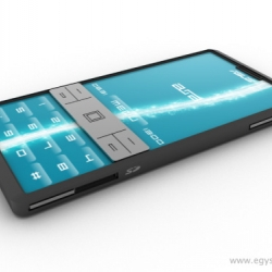 Asus Aura, produced by Hungarian design company Egy Studio for Taiwanese vendor. Great concept for a cell!