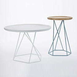 The Asymmetry tables by Aussie designer Ross Gardam. The table base is actually symmetrical however takes on a much more abstract form when viewed from different angles.