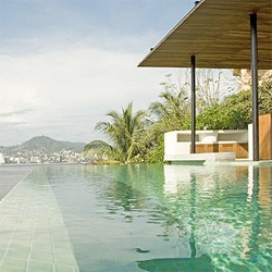 Mexican architects at103 designed House 3, a restoration and addition of an existing house in the old part of the city of Acapulco, México. Love how the exterior pool blends with the amazing Acapulco landscape.
