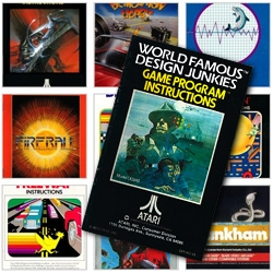 The Wide World of ATARI 2600 game manuals covers - the NICELY DESIGNED ones, that is, as presented gallery style by World Famous Design Junkies.