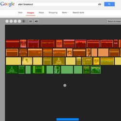 If you do a Google Image search for Atari Breakout the results turn into the game.