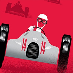 """It Couldn't Be Done: An Audi Story"" ~ beautifully storybook illustrated by Mattson Creative."