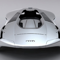 The Audi Exo concept is a human powered vehicle that employs the latest exoskeleton and robotic technologies.