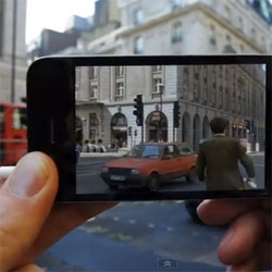 Augmented Reality Cinema, great app that shows you movie scenes from films show where you are standing!