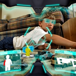 Tangible augmented reality gaming experience is what this is called. Augmented Reality offers both physical and virtual aspects, leaving creative designers to imagine new ways of interactions.
