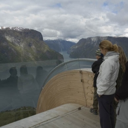 amazing lookout over Sogn og Fjordane, Norway, by architects todd saunders and tommie wilhelmsen