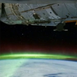 Nasa has released a time-lapse video featuring a unique view of the Aurora Australis or Southern Lights, captured by the International Space Station as its orbit passed 200 miles above eastern Australia and Antarctica.
