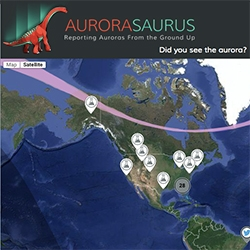 Aurorasaurus - Reporting auroras from the ground up. How fun is their logo too?
