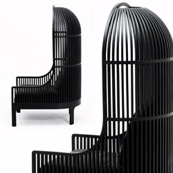 Autoban's '244 Nest' offers an interesting seating experience.
