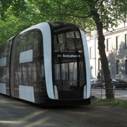 Autonomous tram for Stockholm City, 2025- designed in a Scandinavian way, being clean, simple and bright at the same time as it is timeless, open and user friendly.