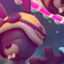 Poked Studios do some really incredible illustration work in both vector and 3D. Some of the 3D stuff looks like a Pixar film... if they were on something.