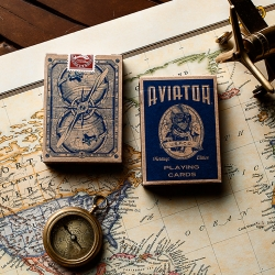 In collaboration with The United States Playing Card Company, Dan and Dave have reimagined AVIATOR® playing cards to honor Howard Hughes and his pioneering advancements in aerospace design and technology.