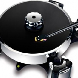 A beautifully designed turntable by Avid that carries a hefty $24,000 price tag.