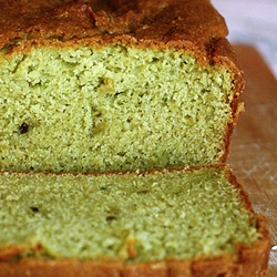 Avocados give this pound cake its surprising green color and surprising sweet avocado flavor.  Joy The Baker is tricky like that.