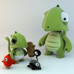 French designer Stéphane Munnier's adorable Goa Toy prototypes.