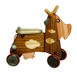 """""""Funny"""" the cow, complete with wooden udder. Just as great as """"Inchworm"""" from the 70s."""