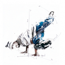 Awesome kinetic/dynamic illustration by Florian Nicolle.