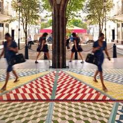 Tile Mile installation by Russ + Henshaw at Clerkenwell Design Week Festival 2014.
