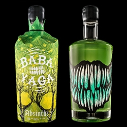 Baba Yaga - an new absinthe from Arbutus Distillery - has a bottle sleeve that reveals a wicked, toothy grin when it's removed.